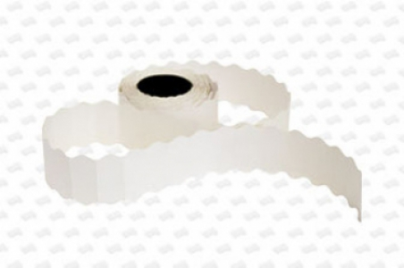 Этикет-лента 26х16х1000 волна, белая